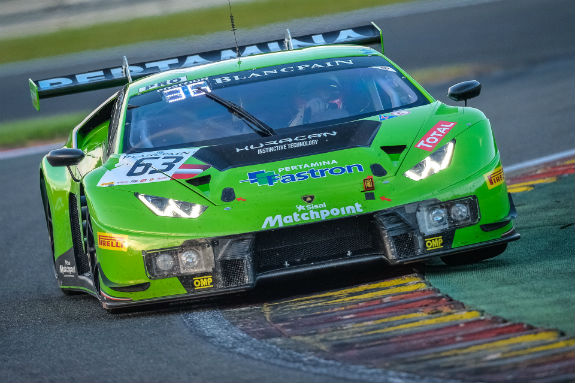 the lamborghini huracan gt3 proves itself ln the 24h of spa sportscar racing news. Black Bedroom Furniture Sets. Home Design Ideas