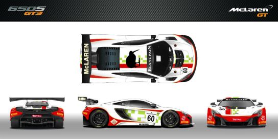 mclaren 650s gt3 to sport tribute livery at 2016 24 hours of spa