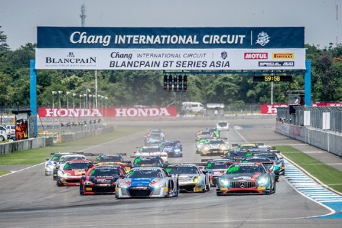 GruppeM Racings Hunter Abbott And Maxi Buhk Claimed Victory In Blancpain GT Series Asias Second Race At Chang International Circuit Earlier Today To Top A