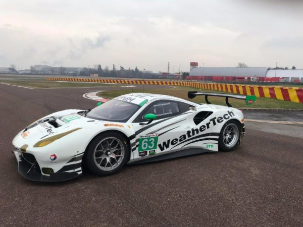 63 WeatherTech Racing Ferrari 488 GT3 Car At The Ferrari Test Track In  Firoano, Italy This Past Week.