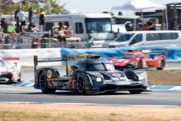All Four Cadillac DPi V.R Race Cars Have Led The Race. No. 10 Konica  Minolta Cadillac DPi V.R Had Contact With GTD Car Early. Eighty Five  Degrees And New ...