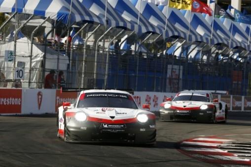 Porsche Long Beach >> Porsche 911 Rsr Starts From The First Grid Row At Long Beach