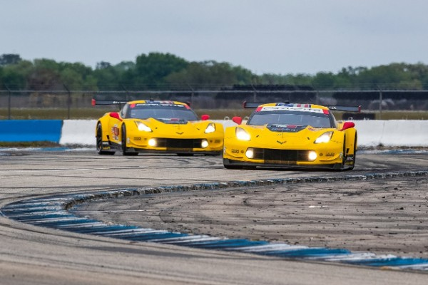 CORVETTE RACING AT SEBRING: VALIANT EFFORT LANDS NO. 3 CORVETTE ON PODIUM
